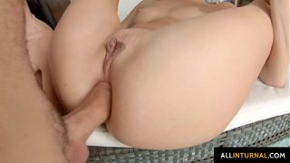 Hardcore anal given to April Blue