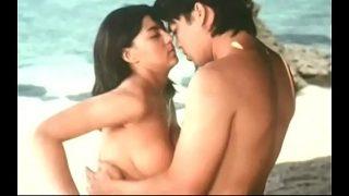 horny desi couple having hot sex by the sea