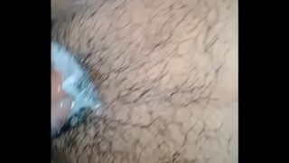 horny indian boy firend cum on her pussy