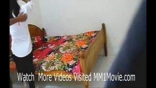 Indian lovers hardcore sex scandal in dorm room leaked (MM1Movie.com)