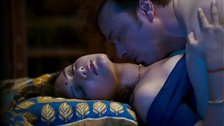 Mastram Webseries Pushpa Bahu in bed getting fucked and sucked wearing blue blouse(model- Ambika)