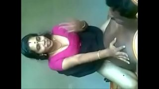 mature auntie fuck in pink saree and blouse